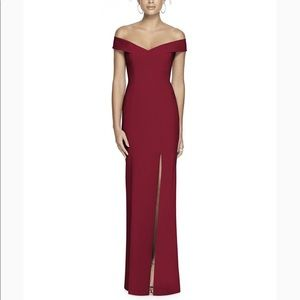 Dessy Collection Burgundy Bridesmaid Dress 3012